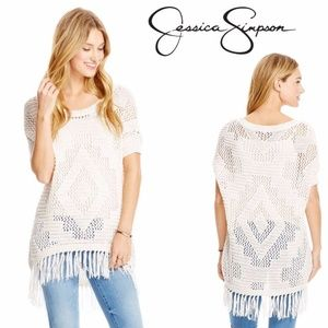 SALE! Artsy Fringe Sweater by Jessica Simpson NWT!